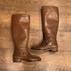 Camel Leather Tory Burch Riding Boots